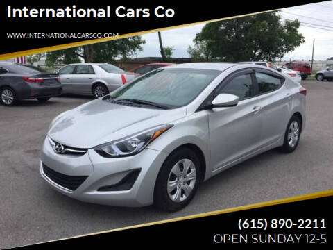 2016 Hyundai Elantra for sale at International Cars Co in Murfreesboro TN