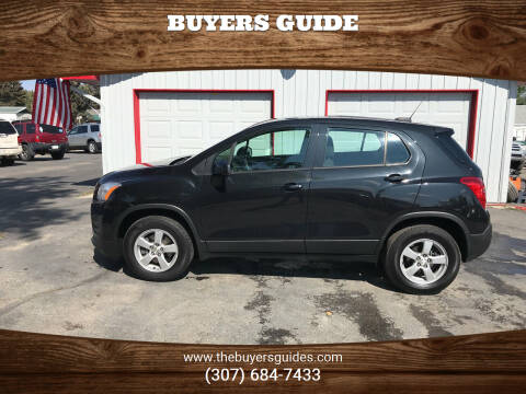 2016 Chevrolet Trax for sale at Buyers Guide in Buffalo WY