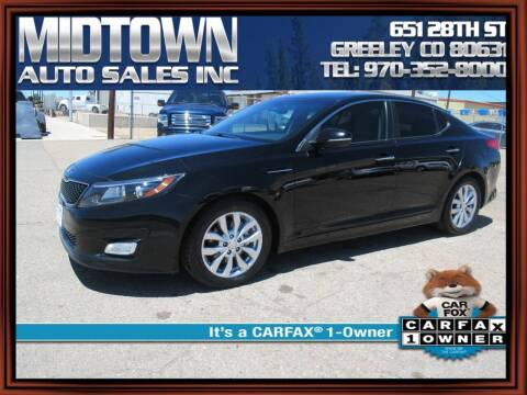 2014 Kia Optima for sale at MIDTOWN AUTO SALES INC in Greeley CO