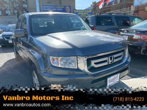 2010 Honda Ridgeline for sale at Vanbro Motors Inc in Staten Island NY