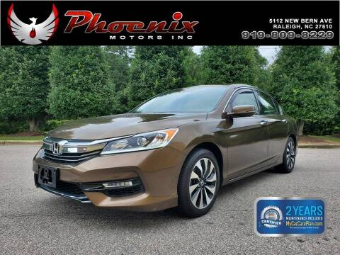 2017 Honda Accord Hybrid for sale at Phoenix Motors Inc in Raleigh NC