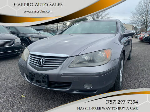 2007 Acura RL for sale at Carpro Auto Sales in Chesapeake VA