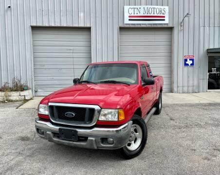 2005 Ford Ranger for sale at CTN MOTORS in Houston TX