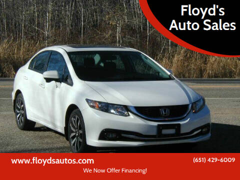 2015 Honda Civic for sale at Floyd's Auto Sales in Stillwater MN