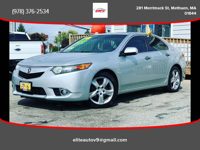 2012 Acura TSX for sale at ELITE AUTO SALES, INC in Methuen MA