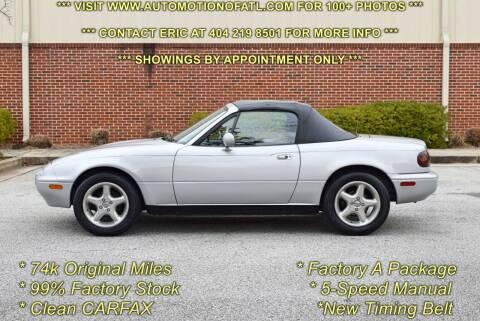 1992 Mazda MX-5 Miata for sale at Automotion Of Atlanta in Conyers GA