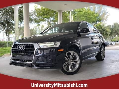 2018 Audi Q3 for sale at University Mitsubishi in Davie FL