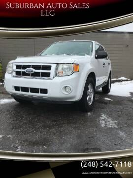 2008 Ford Escape for sale at Suburban Auto Sales LLC in Madison Heights MI