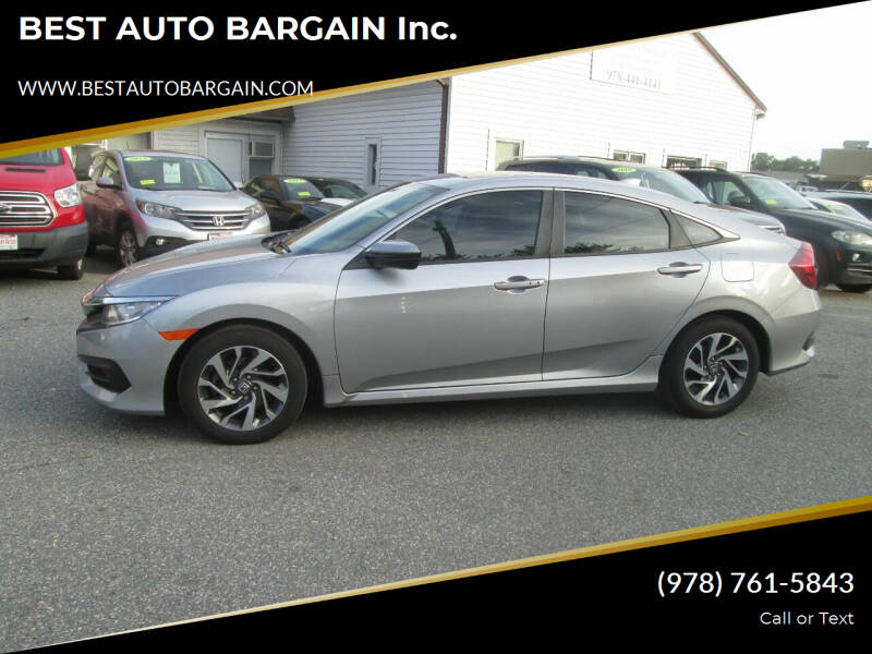 2018 Honda Civic for sale at BEST AUTO BARGAIN inc. in Lowell MA