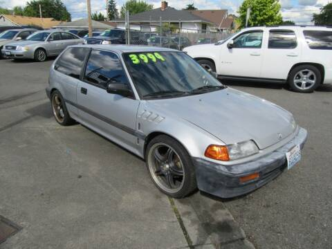 1989 Honda Civic for sale at Car Link Auto Sales LLC in Marysville WA