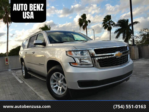 2019 Chevrolet Suburban for sale at AUTO BENZ USA in Fort Lauderdale FL