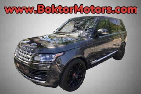 2016 Land Rover Range Rover for sale at Boktor Motors in North Hollywood CA
