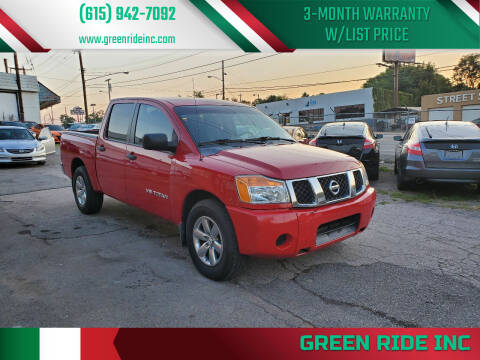 2011 Nissan Titan for sale at Green Ride Inc in Nashville TN