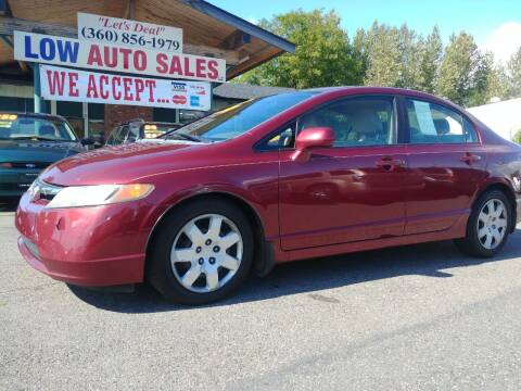2008 Honda Civic for sale at Low Auto Sales in Sedro Woolley WA