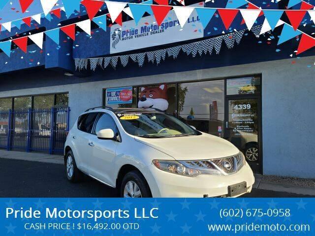 2013 Nissan Murano for sale at Pride Motorsports LLC in Phoenix AZ