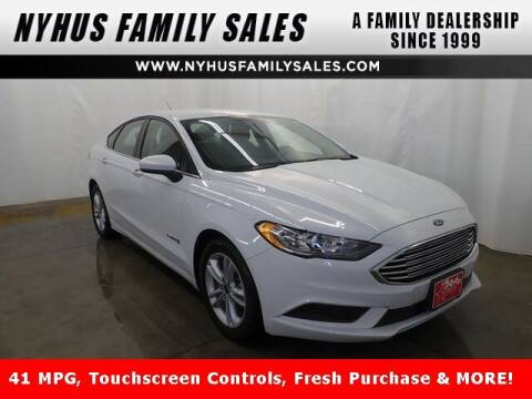 2018 Ford Fusion Hybrid for sale at Nyhus Family Sales in Perham MN