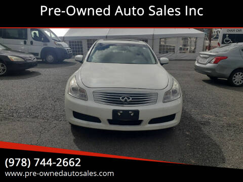 2008 Infiniti G35 for sale at Pre-Owned Auto Sales Inc in Salem MA