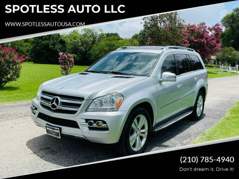 2011 Mercedes-Benz GL-Class for sale at SPOTLESS AUTO LLC in San Antonio TX