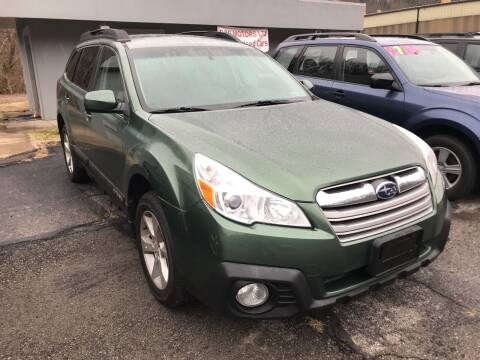 2013 Subaru Outback for sale at B & P Motors LTD in Glenshaw PA