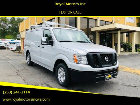 2013 Nissan NV Cargo for sale at Royal Motors Inc in Kent WA