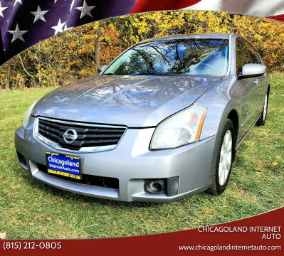 2007 Nissan Maxima for sale at Chicagoland Internet Auto - 410 N Vine St New Lenox IL, 60451 in New Lenox IL