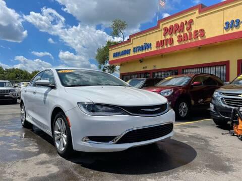 2016 Chrysler 200 for sale at Popas Auto Sales in Detroit MI