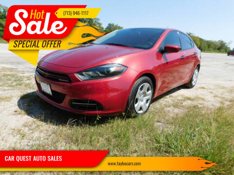 2013 Dodge Dart for sale at CAR QUEST AUTO SALES in Houston TX
