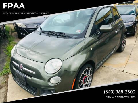 2012 FIAT 500 for sale at FPAA in Fredericksburg VA