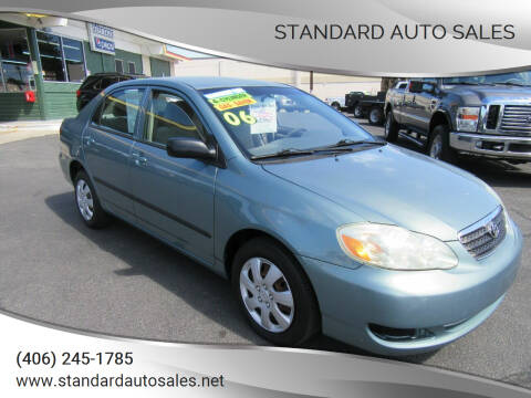 2006 Toyota Corolla for sale at Standard Auto Sales in Billings MT