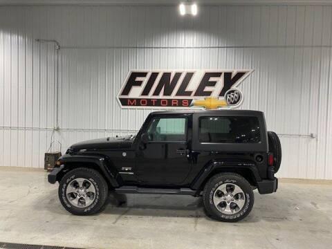2018 Jeep Wrangler JK for sale at Finley Motors in Finley ND