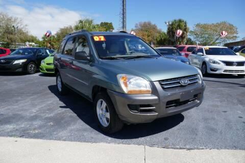 2007 Kia Sportage for sale at J Linn Motors in Clearwater FL