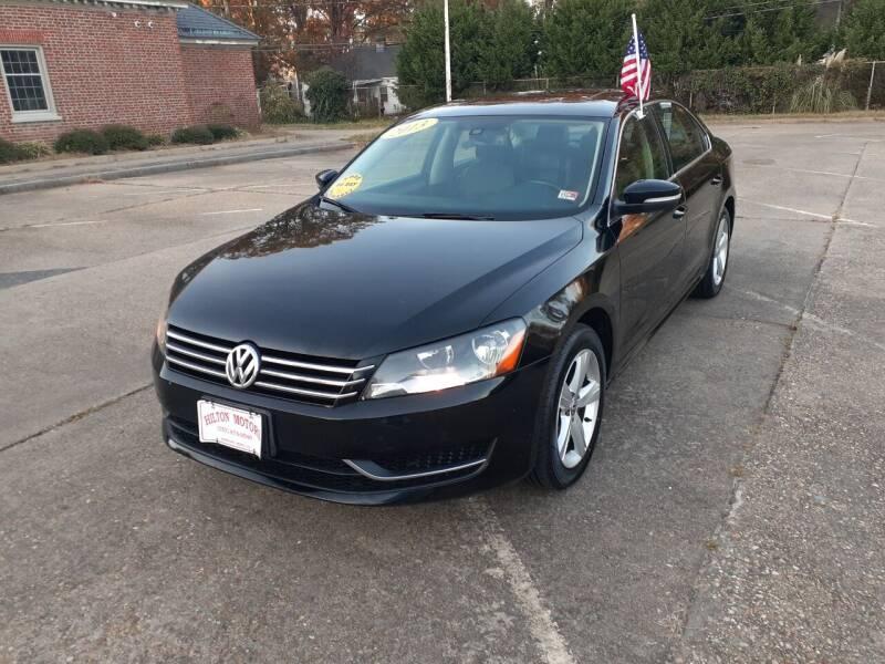 2013 Volkswagen Passat for sale at Hilton Motors Inc. in Newport News VA