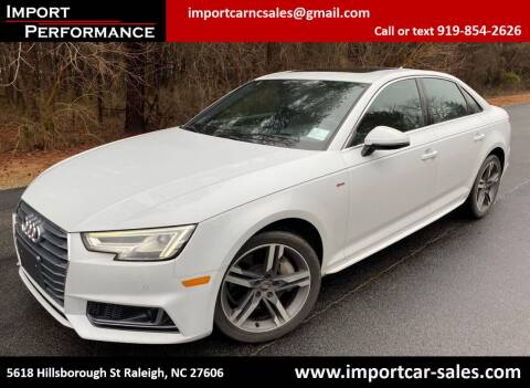 2017 Audi A4 for sale at Import Performance Sales in Raleigh NC
