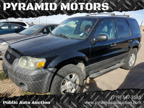 2005 Ford Escape for sale at PYRAMID MOTORS - Pueblo Lot in Pueblo CO