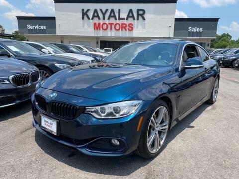 2017 BMW 4 Series for sale at KAYALAR MOTORS in Houston TX