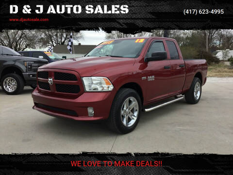 2013 RAM Ram Pickup 1500 for sale at D & J AUTO SALES in Joplin MO