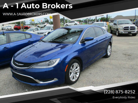 2015 Chrysler 200 for sale at A - 1 Auto Brokers in Ocean Springs MS