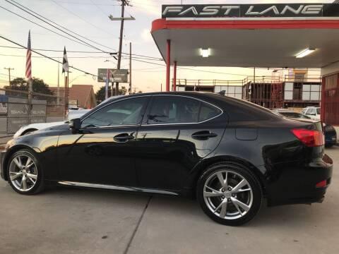 2010 Lexus IS 250 for sale at FAST LANE AUTO SALES in San Antonio TX