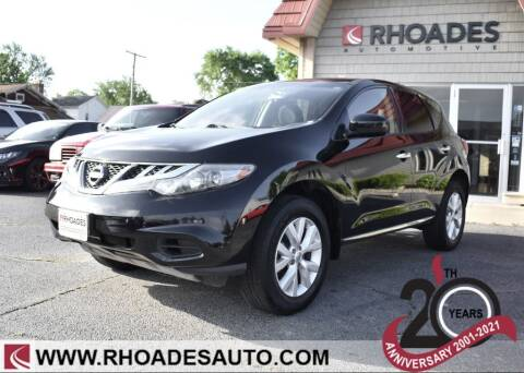 2014 Nissan Murano for sale at Rhoades Automotive Inc. in Columbia City IN