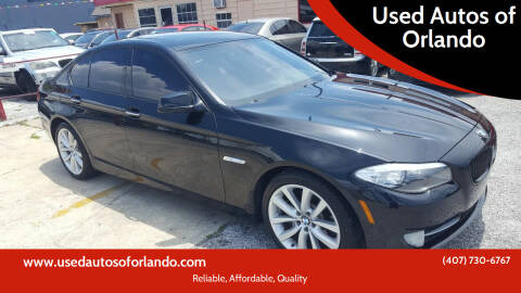 2011 BMW 5 Series for sale at Used Autos of Orlando in Orlando FL