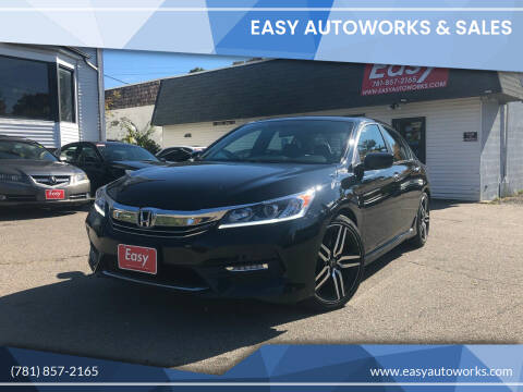 2017 Honda Accord for sale at Easy Autoworks & Sales in Whitman MA