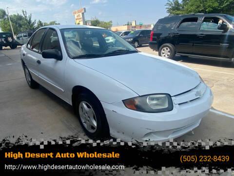 2003 Chevrolet Cavalier for sale at High Desert Auto Wholesale in Albuquerque NM