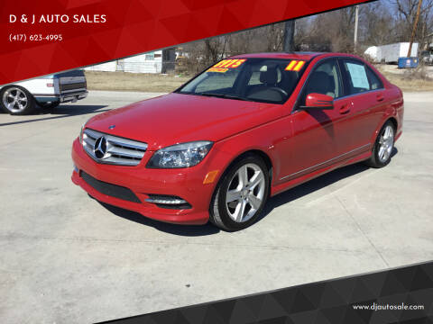 2011 Mercedes-Benz C-Class for sale at D & J AUTO SALES in Joplin MO