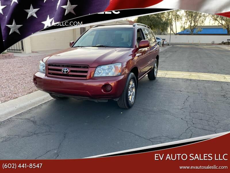 2005 Toyota Highlander for sale at EV Auto Sales LLC in Sun City AZ