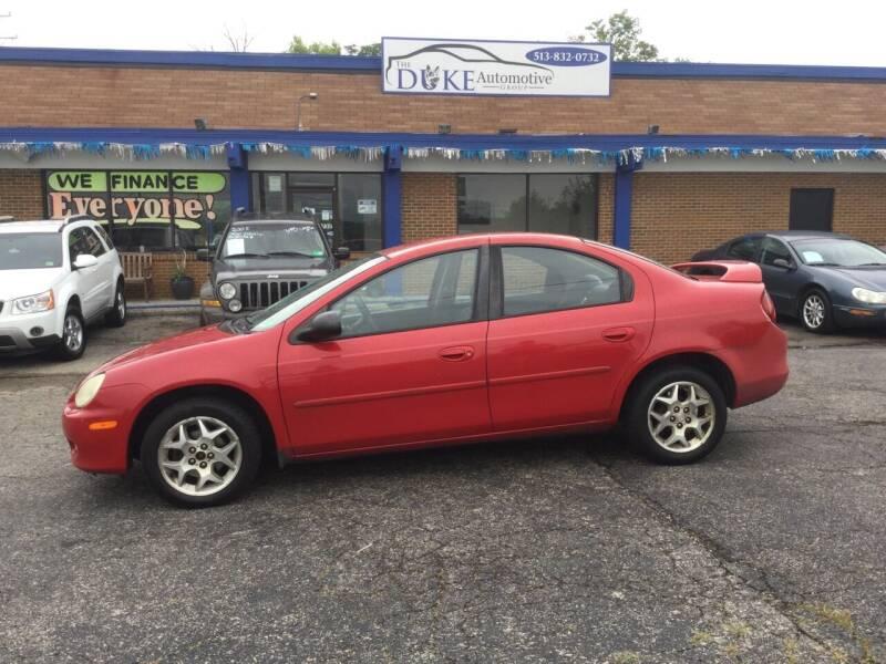 2002 Dodge Neon for sale at Duke Automotive Group in Cincinnati OH