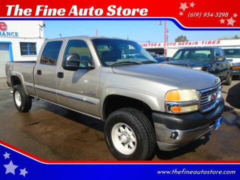 2001 GMC Sierra 2500HD for sale at The Fine Auto Store in Imperial Beach CA