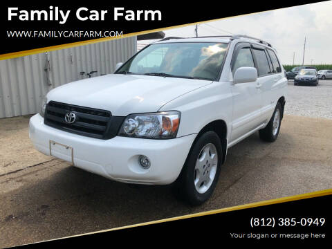 2006 Toyota Highlander for sale at Family Car Farm in Princeton IN