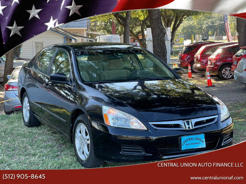 2007 Honda Accord for sale at Central Union Auto Finance LLC in Austin TX