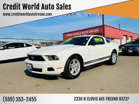 2012 Ford Mustang for sale at Credit World Auto Sales in Fresno CA