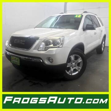 2012 GMC Acadia for sale at Frogs Auto Sales in Clinton IA